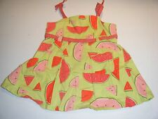 Girl Gymboree summer dress size 12 - 18 months Sweet Watermelon Lime Green EUC