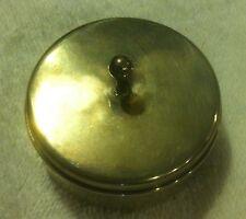 "Tiffany Sterling Silver Ring or Thimble Box  2 5/8"" diameter no monogram"