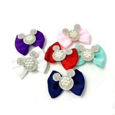 Mickey Ribbon Hair Bows Alligator Clips for Baby Girls