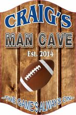 Custom Sports Bar Sign Man Cave Decor Football Baseball Fan Sign C1236