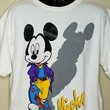 Mickey Mouse T Shirt Size Xl Vintage Single Stitch Purple Jacket Sneakers Shadow