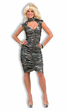 Womens Disco Queen Costume Disco Fever Dress Adult Size M/L