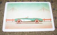"""DKNG San Francisco Car Art Postcard Handbill 4 X 6"""" like silkscreen poster print"""