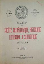 ARCHÉOLOGIE HISTOIRE SCIENCE du GERS 3éme Trim 1978 MANUSCRIT REGISTRES ANTILLES
