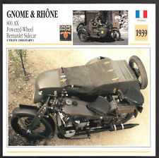 1939 Gnome & Rhone 800cc AX Bernadet Sidecar Army WW2 Bike Motorcycle Photo Card