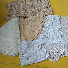 More details for job lot of vintage old crochet lace tablecloths