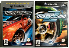 Lot 2 jeux Gamecube - Need For Speed Underground 1 & 2 - Avec notices - PAL FR