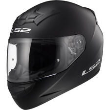 LS2 FF352 FULL FACE MOTORCYCLE MOTORBIKE HELMET WHITE, MATT BLACK PLAIN ROOKIE