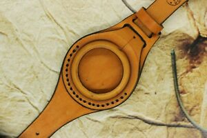 New Brown Leather STRAP Band Sand Сolor WRISTBAND For Pocket Watch 45mm WWII
