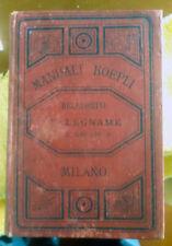 Manuali Hoepli - Falegname ed Ebanista di G. Belluomini. Prima edizione