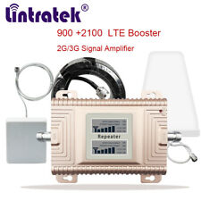 900/2100 Dual Band Amplifier Mobile Phone Signal Booster 2G 3G Kit UMTS/CDMA/GSM