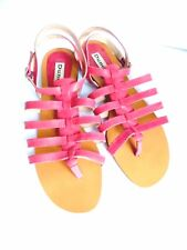 DUNE pink, soft leather, toe-post strappy sandals size 6 UK/39 EU. New, unworn.