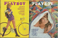 PLAYBOY 1971 Lot of 2 - August / November-Sex In Cinema 1971,Geo McGovern Intvw