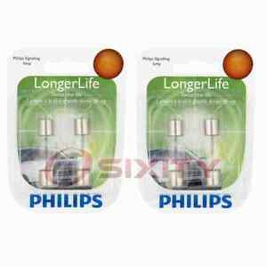 2 pc Philips Map Light Bulbs for Ford Freestyle Ghia Maverick Mustang im