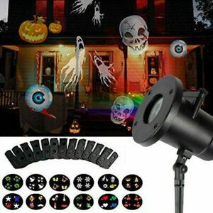 Halloween Xmas Laser Projector LED Light Garden Landscape Party Spotlight Lamp