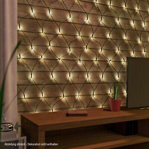 LED-Lichternetz 100 warmweiß Lichterkette Lichternetz innen/außen Timer