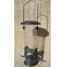Mangeoire silo, en métal et plastique, pour oiseaux, à suspendre