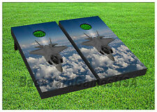 Vinyl Wraps Cornhole Boards Decals Fighter Jet Plane Bag Toss Game Stickers 251