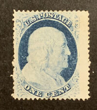 TDStamps: US Stamps Scott#24 1c Franklin Unused NG Spot Thin