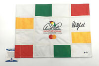 PHIL MICKELSON PGA SIGNED LIMITED CHECKERED FLAG AUTOGRAPH BECKETT BAS COA