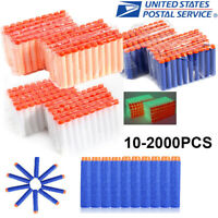 10-1000Pc Lot Colors Refill Soft EVA Foam Bullet Darts For Blasters Toy Gun