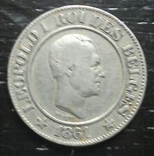 monnaie munt 20 cent 1861 Léopold Ier Belgique Belgie Belgium
