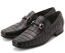 Los Altos Men's Genuine Caiman Belly Dress Shoes Slip On Loafer