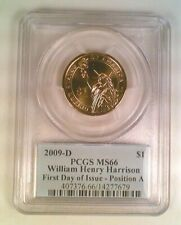 2009-D Presidential Dollar William Harrison PCGS MS66 Position A