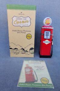 Kiddie Car Corner Collection Pedal Power Premium Gas Pump ©1997 Hallmark + Box