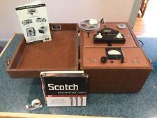 Vintage Rare Pentron vacuum tube recording preamplifier + reel to reel Working