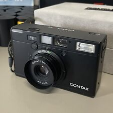 Contax T4 (Tix) Black Point & Shoot Film Camera Carl Zeiss f2.8 with Box & Film