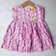 *BNWT* Girls JOULES Flutter Tunic Top RRP £29 Pink Floral Frill Summer Holiday 6