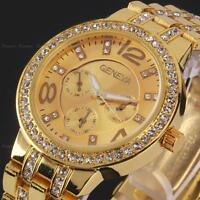 Bling Crystal Lady Womens Girl Unisex Analog Quartz Sport Wrist Watch Bracelet