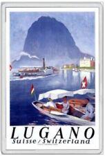 LUGANO - JUMBO FRIDGE MAGNET - SWITZERLAND SWISS CANTON OF TICINO BREGANZONA
