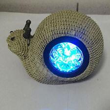 Solar LED Outdoor Snail Light Snail Statue Landscape Lamp Garden Party Decor