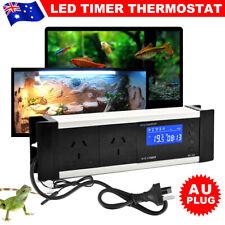 Reptile Thermostat Aquarium Timer Day Night Cool Heat Temperature Controller JD
