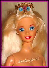 Nude princess Barbie floor length blonde hair super star face sculpt for ooak or