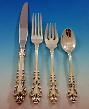 Spanish Baroque by Reed and Barton Sterling Silver Flatware Set 8 Service 32 pcs