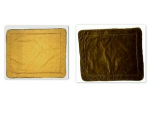 Croscill Luxury Discontinued 2 Brown Velvet Pillowcases Shams Large Quilted Pair