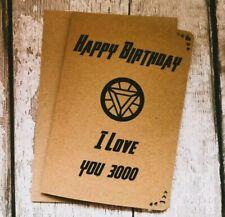 Avengers End Game / I Love You 3000 Card / Iron Man  Tony Stark / Happy Birthday