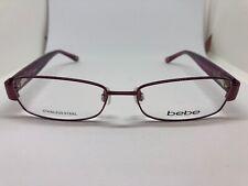 eeac201cb00 NEW Bebe Fashionista BB5050 604 Burgundy 53.16.140 Eyeglass Frame Women