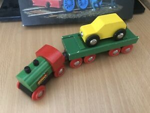 Brio Wooden Train Classic Engine & Car Carrier! Thomas