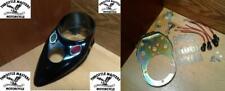 1939-1942 Black Cat Eye Dash Panel Cover & Base Kit for Harley Knucklehead