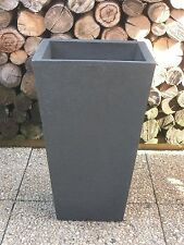 Pflanzkübel Blumenkübel 35x35cm / 55cm Höhe Kunststoff anthrazit schieferoptik
