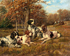 Antique Bird Hunting Repro 8X10 Osthaus Photo Print 2 English Setters Pointers