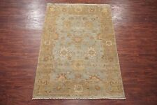 Hand-Knotted 6X9 Oushak Area Rug Veg' Dye Wool Oriental Carpet (6.0 x 8.11)