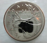 1983 CANADA 25 CENTS PROOF-LIKE QUARTER COIN