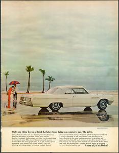 "1964 Buick LeSabre Convertible ""One Thing"" Vintage Print Art Car Advertisement"