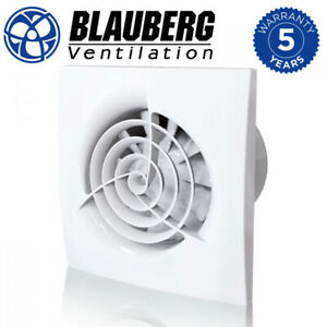"""Quiet Bathroom Extractor Fan with/without Timer Trio Wall & Ceiling 4 """" 100 mm"""