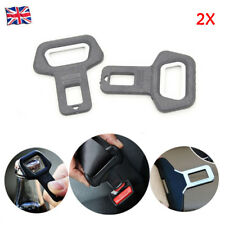 2pcs Universal Car Safety Seat Belt Buckle Alarm Eliminator Clip Stop Warning